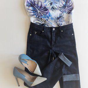 Blue Straight Leg Jeans -  Tristan